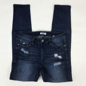 Kensie Ankle Biter Distressed Skinny Jeans